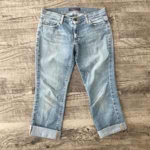 American Eagle cuffed cropped jeans